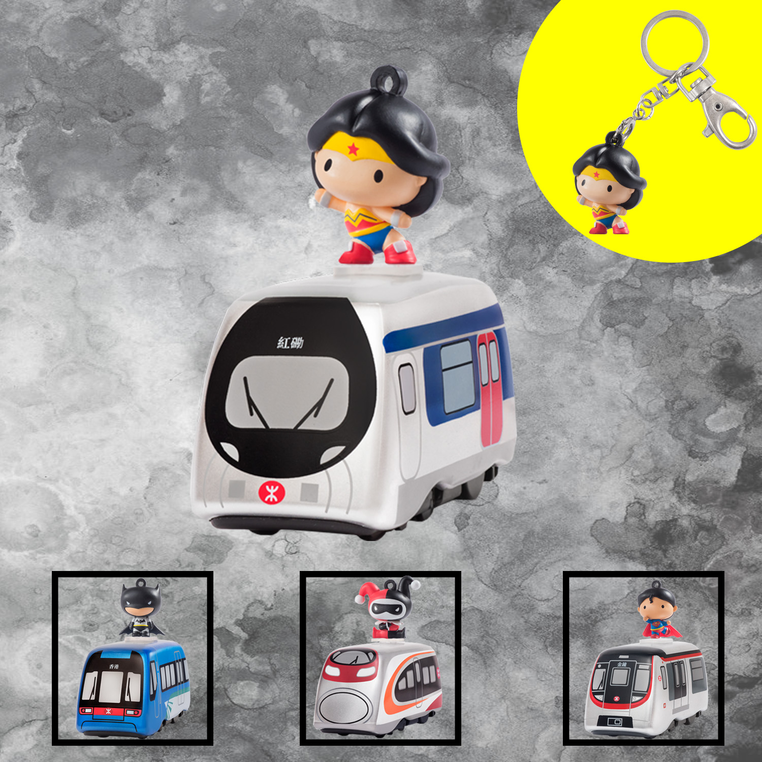 MTR | Justice League Series – 2-Way Wonder Woman Pull Back Train and Keychain