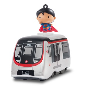 Pull Back Train & Keychain - Superman