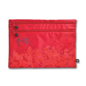 港鐵旅遊精品 <BR>大型雙拉鏈袋-紅色(中環版)