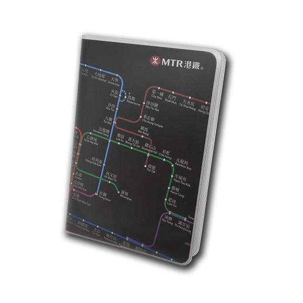 港鐵路綫圖筆記簿-黑色
