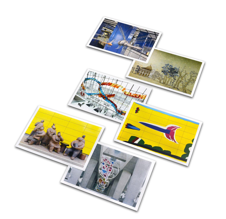 車站藝術品 - 名信片