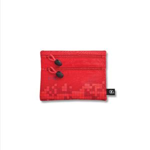港鐵旅遊精品 <BR>小型雙拉鏈袋-紅色(中環版)