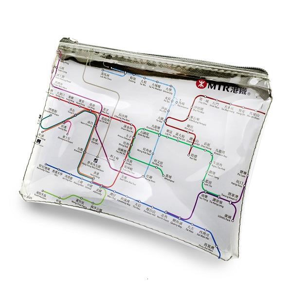 港鐵路綫圖A6便攜袋 - 透明